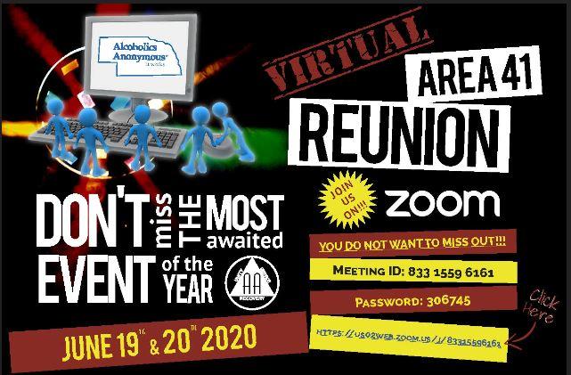 AREA 41 REUNION JUNE 19-20, 2020 COLUMBUS NE